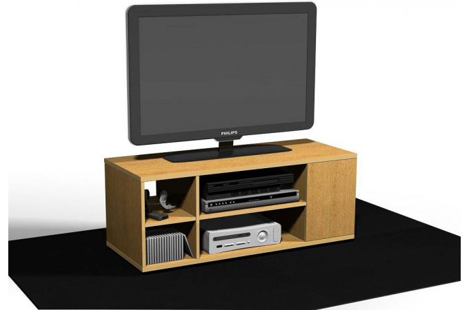 meuble tv en 90 d cor ch ne pierre design sur sofactory. Black Bedroom Furniture Sets. Home Design Ideas