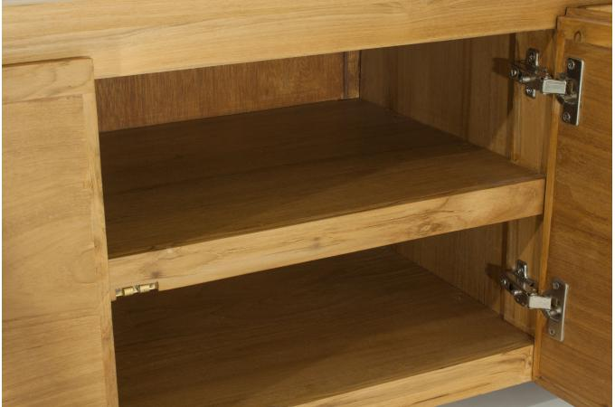 meuble tv 3 portes en teck massif city design sur sofactory. Black Bedroom Furniture Sets. Home Design Ideas