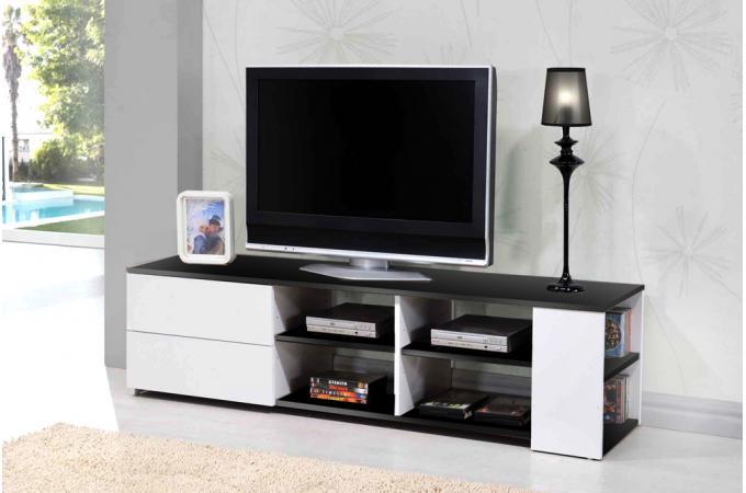 meuble tv noir et blanc moderno design sur sofactory