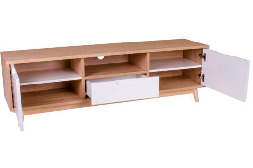 Meuble TV Scandinave Blanc URBAN Blanc Ho296593-0000