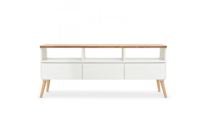 meuble tv scandinave bois blanc celilo design sur sofactory. Black Bedroom Furniture Sets. Home Design Ideas