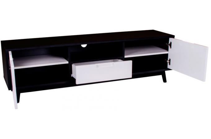 meuble tv scandinave noir et blanc urban design sur sofactory. Black Bedroom Furniture Sets. Home Design Ideas