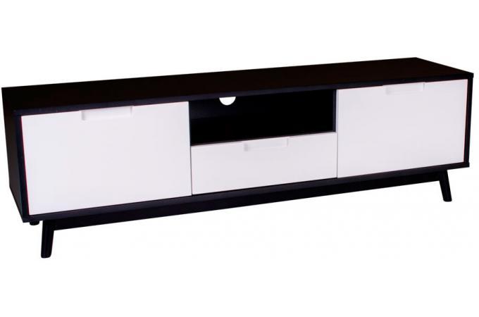 Meuble TV Scandinave Noir et Blanc URBAN design sur SoFactory
