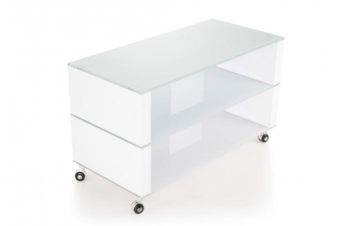 Meuble Tv Verre Blanc Laqué Medellin Design Sur Sofactory
