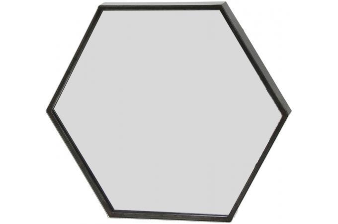Miroir hexagonal en m tal noir woodwall d co design sur for Miroir hexagonal