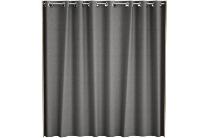 Placard extensible avec rideau ch ne bross chico design sur sofactory Placard avec rideau