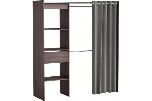 placard extensible avec rideau ch ne vulcano chico design. Black Bedroom Furniture Sets. Home Design Ideas