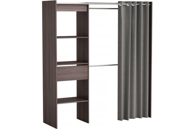 placard extensible avec rideau ch ne vulcano chico design sur sofactory. Black Bedroom Furniture Sets. Home Design Ideas
