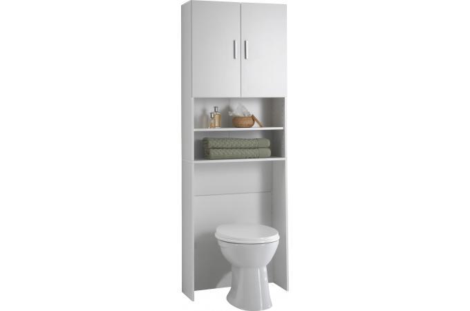 pont de rangement 2 portes 2 compartiments blanc konni design sur sofactory. Black Bedroom Furniture Sets. Home Design Ideas