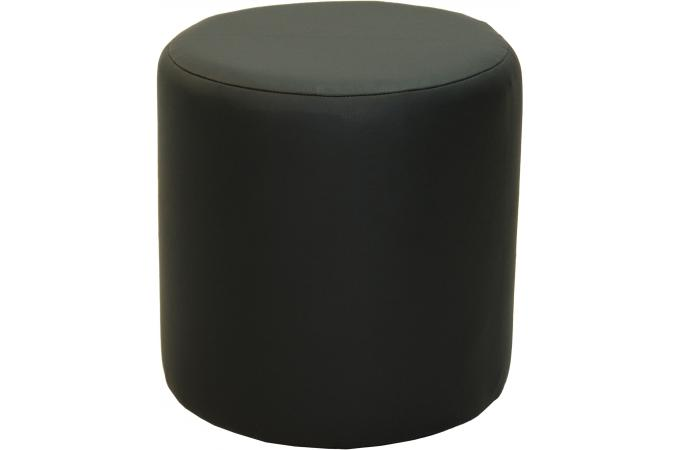 pouf rond noir stool design sur sofactory. Black Bedroom Furniture Sets. Home Design Ideas
