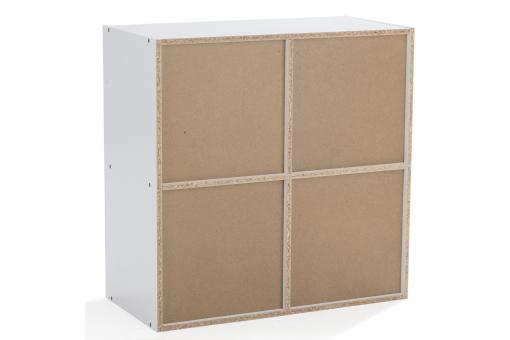 rangement 4 cases blanc nelly design sur sofactory. Black Bedroom Furniture Sets. Home Design Ideas