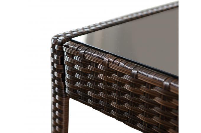 Salon de Jardin Chocolat Ecru SULE design sur SoFactory