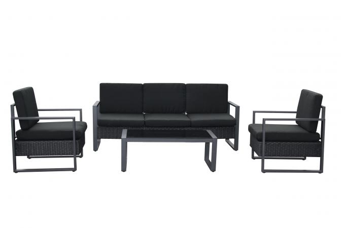 Salon de Jardin Table Noir SUNCE design sur SoFactory
