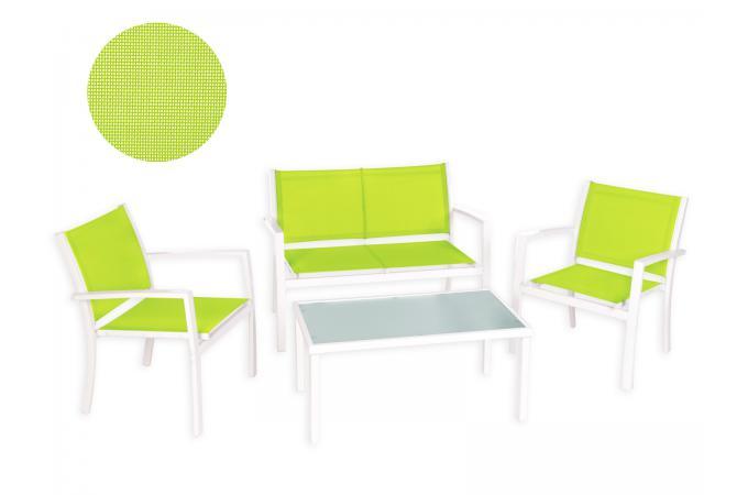 Salon de Jardin Vert Anis GINA design sur SoFactory