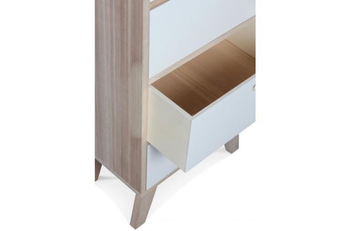 Chiffonnier style scandinave en bois 6 tiroirs 40x25x99 vancouver design sur sofactory for Meuble scandinave montreal