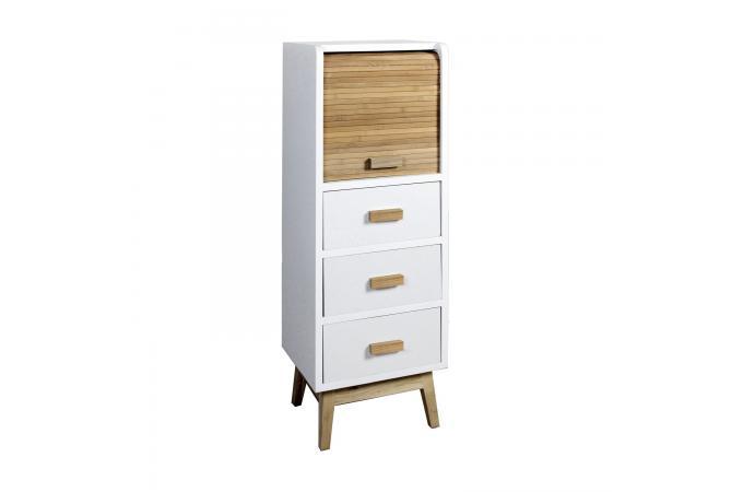 semainier style scandinave en bois rangement porte roulante h83 laura design sur sofactory. Black Bedroom Furniture Sets. Home Design Ideas