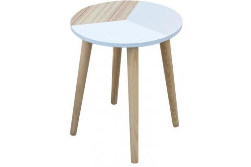 Set de 2 Tables Basses Gigognes Tricolore en Bois EMMY CM1168495-0000
