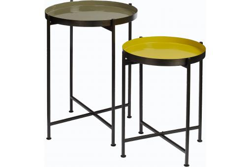 Set de 2 Tables d'Appoint en Métal Multicolore FAVE SoFactory