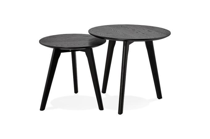 bas prix 40b31 8183f Set de 2 Tables Gigognes Bois Noir TORNESY