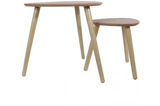 Set de 2 Tables Gigognes Triangles en Bois DAISY CM1174085-0000
