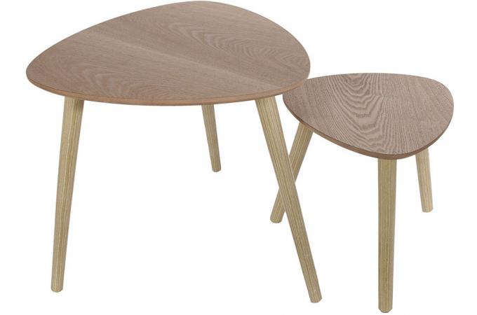 Set de 2 Tables Gigognes Triangles en Bois DAISY SoFactory