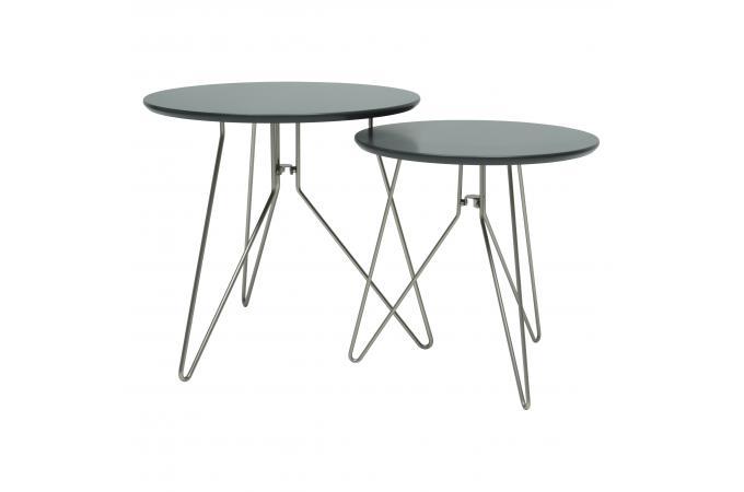 set de 2 tables noires dor grecia design sur sofactory. Black Bedroom Furniture Sets. Home Design Ideas