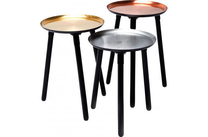 set de 3 tables d 39 appoint cuivre fast design sur sofactory. Black Bedroom Furniture Sets. Home Design Ideas