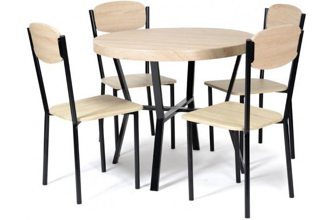 Set de table et 4 chaises sacha design pas cher sur sofactory - Table et 4 chaises pas cher ...