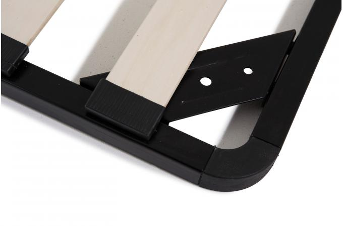 sommier 180x200 noir dornia design sur sofactory. Black Bedroom Furniture Sets. Home Design Ideas
