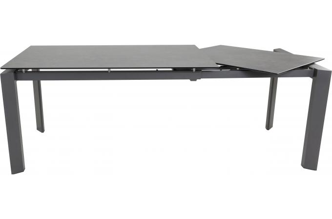 table a manger 140 cm extensible gris fonc foola design sur sofactory. Black Bedroom Furniture Sets. Home Design Ideas