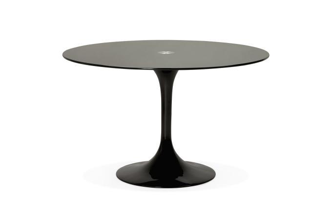 Table à Manger En Verre Noir ALABAMA