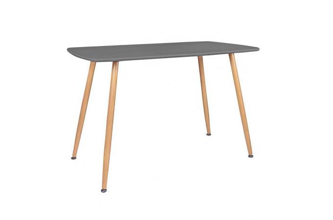 Table a manger en verre tremp gris transparent l120 for Table a manger en verre trempe