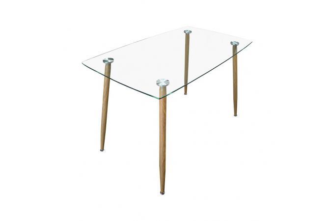 Table a manger en verre tremp l120 aquiba design sur sofactory - Table a manger en verre trempe ...