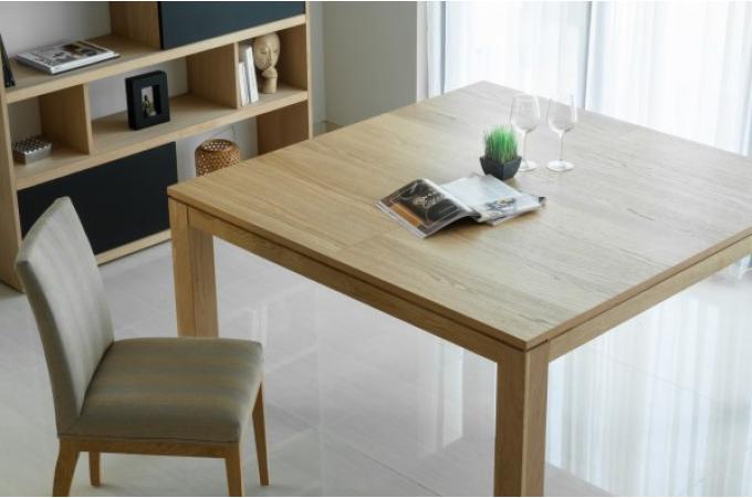 table manger extensible 140 190 en ch ne massif cama design sur sofactory. Black Bedroom Furniture Sets. Home Design Ideas