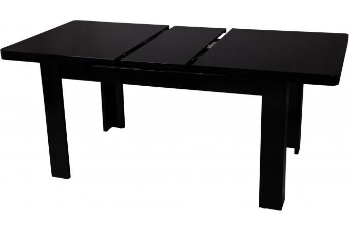 Table manger extensible noire maeva design sur sofactory - Table a manger noire ...