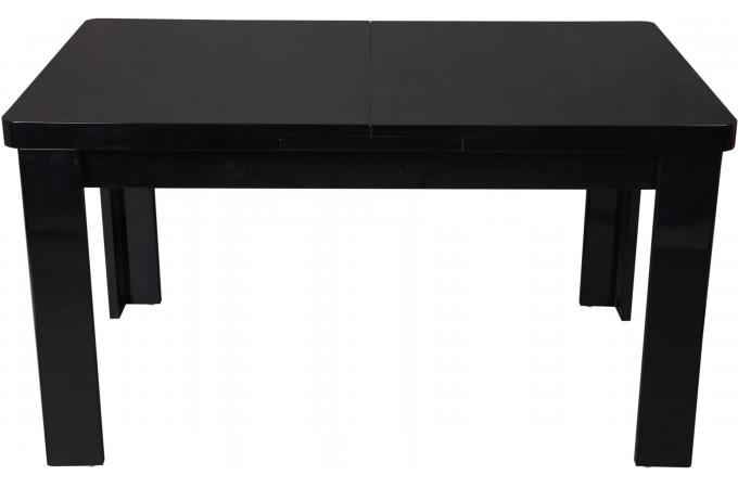 table manger extensible noire maeva design sur sofactory. Black Bedroom Furniture Sets. Home Design Ideas