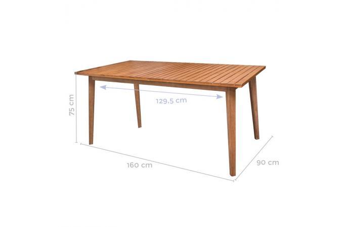 Table à Manger Extérieur Teck Marron ROMEO design sur SoFactory