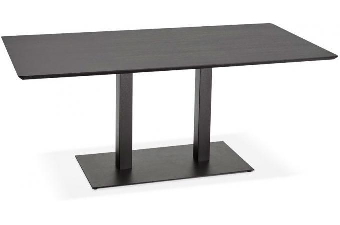 Table Noir à Rectangulaire Bois GORMAZ Manger 0Z8nOPkXwN
