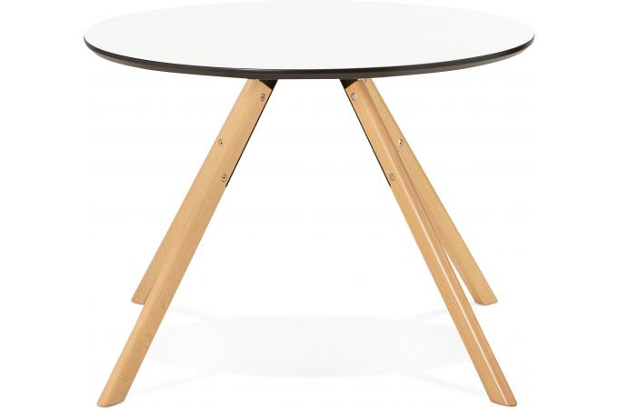 Table manger ronde blanche d100 fare design sur sofactory - Table a manger ronde blanche ...