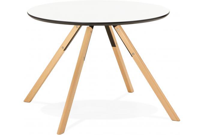 Table manger ronde blanche d100 fare design sur sofactory for Table a manger ronde blanche