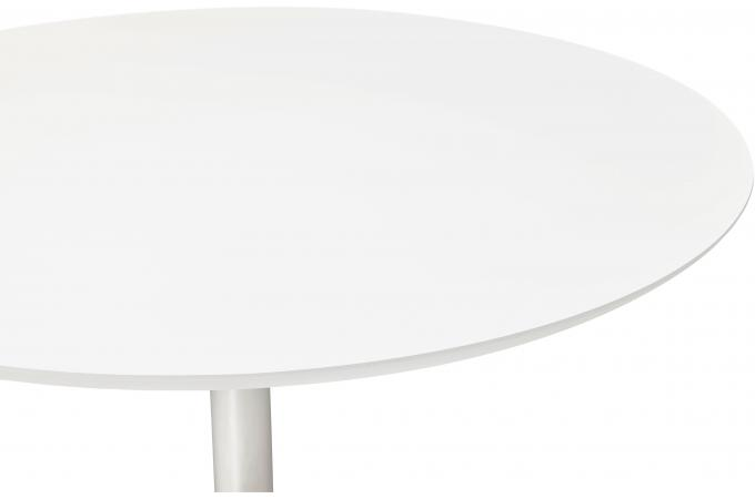 Table manger ronde blanche pied m tal d120 nett design for Table a manger ronde blanche