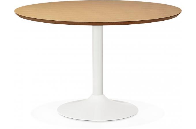 Table à Manger Ronde Chêne Pied Blanc D120 NETT design sur SoFactory