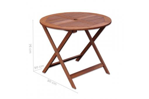 table manger ronde ext rieur marron salvatore design sur. Black Bedroom Furniture Sets. Home Design Ideas