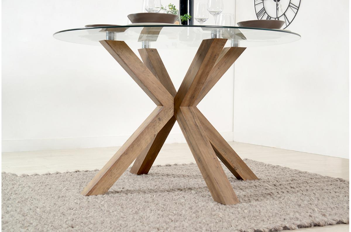 Table à Manger Ronde Verre Trempé Sutira Design Sur Sofactory