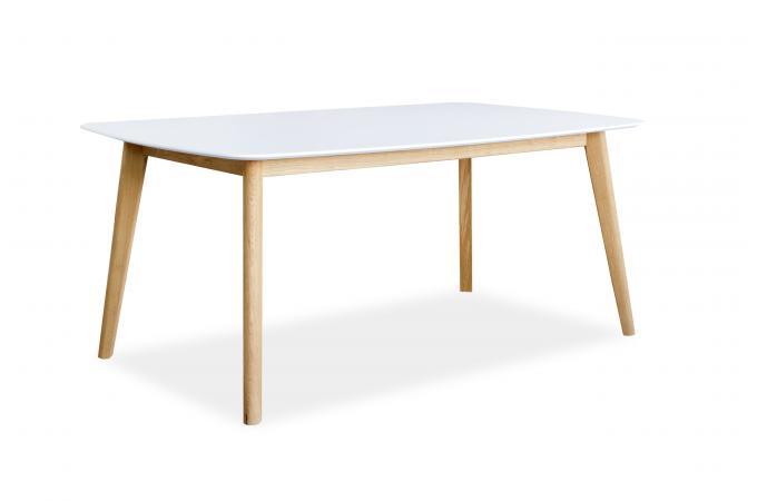 Table à Manger Scandinave Rectangulaire 140 Blanche BAKI design sur ...