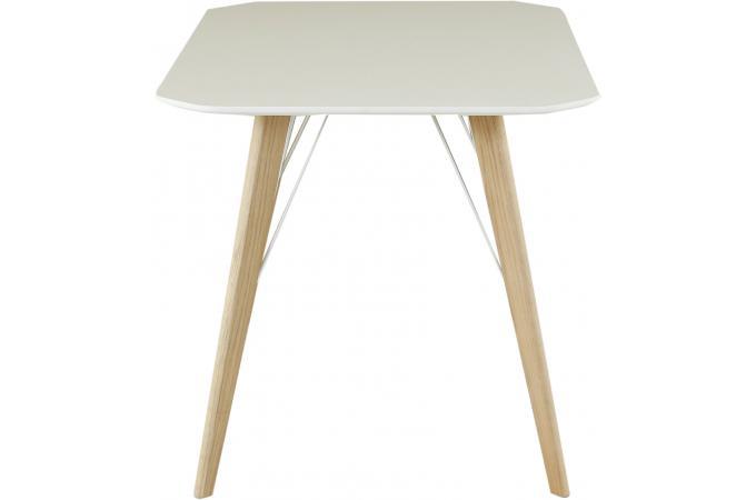 Table à Manger Scandinave Rectangulaire Blanche ANJA design sur ... 367922578bf3