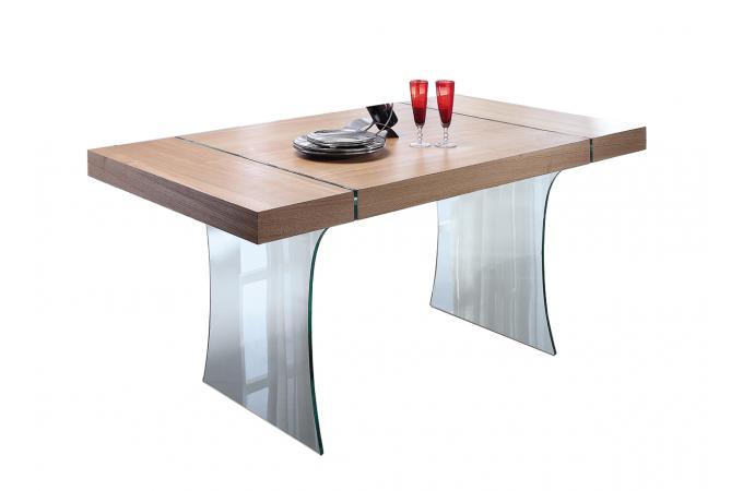 Table A Manger Verre Bois Nami