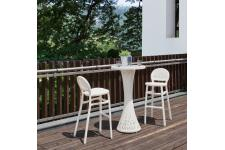 Table Bar Et 2 Chaises De Bar Blanches FLIP SoFactory