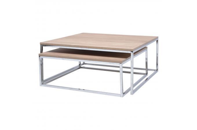 Table Basse Gigogne Acier Bois Ennio Design Sur Sofactory
