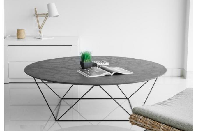 table basse avec plateau en imitation b ton cir cama. Black Bedroom Furniture Sets. Home Design Ideas